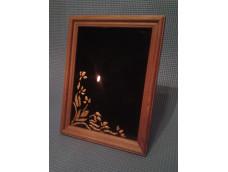 Черное зеркало. Темное дерево. Узор. 135 на 185мм