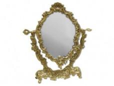 Зеркало настольное Золотое.