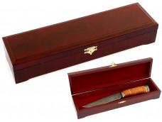 Шкатулка для ножа из ореха