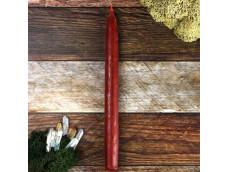 Красная восковая свеча большая