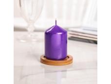 Свеча столбик фиолетовая.