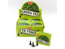 Зеленый чай. Конусное благовоние. Индия